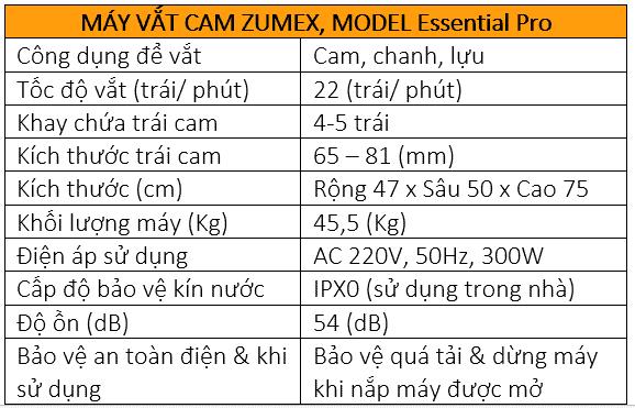 Máy vắt cam Zumex Essential_Pro